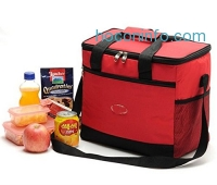 ihocon: 3E Home CBS-2000 Insulated Lunch Picnic Bag for Adult, Men, Women and Kids with Adjustable Strap, Front Pocket and Side Pocket, 12Hx7.5Wx11L Inches (Red)