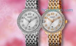 ihocon: Buy 1 Get 1 Free: Akribos XXIV Women's Date Dial Watches Made with Swarovski Elements