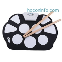 ihocon: Eoncore  Mini USB Interface Kids Silicon Foldable Electronic Digital Drum 矽膠電子鼓