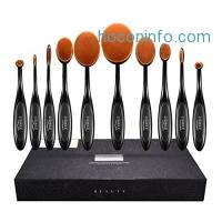 ihocon: LiSmile 10-piece Oval Makeup Brushes化妝刷組