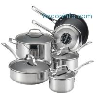 ihocon: Circulon Genesis Stainless Steel Nonstick 10-Piece Cookware Set
