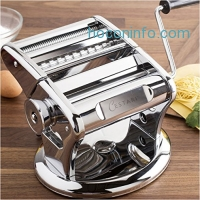 ihocon: Ultimate Pasta Machine - Professional Pasta Maker - Unique Patented Suction Base for No-Slip Use of Stainless Steel Pasta Roller Machine - 150 mm - by Cestari Kitchen