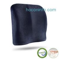 ihocon: LANGRIA Lumbar Support Pillow Back Cushion人體工學記憶棉背部支撐靠墊