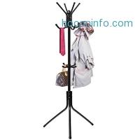 ihocon: Den Haven Standing Coat Rack Hat Hanger Holder Hooks for Jacket Umbrella Tree Stand with Base Metal