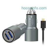 ihocon: Quick Charge 2.0, JDB 36W Dual Quick Charge 2.0 USB Ports Quick Car Charger & 3Ft Micro USB Cable for Samsung Adaptive Fast Charging, LG, Nexus, Motorola, iPhone and more