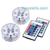 ihocon: 2-Pack WisHome Waterproof Battery Operated Submersible LED Lights