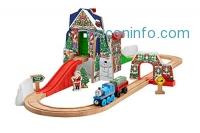 ihocon: Fisher-Price 湯瑪士火車組 Thomas the Train Wooden Railway Santa's Workshop Express [Amazon Exclusive]