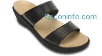ihocon: Crocs Womens A-leigh 2-strap Mini Wedge