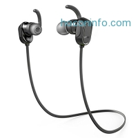 ihocon: Anker SoundBuds Wireless Headphones - Sweatproof, Magnetic In-Ear Sport Earbuds with 8-Hour Playtime and Noise Cancellation, Secure Fit Bluetooth Headset for Running, Workout and Gym