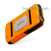ihocon: Unifun 10400mAh Waterproof Power Bank Charger withLED Flashlight and Strap Hole防水行動電源內建手電筒