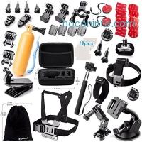 ihocon: Zookki Accessories Kit for GoPro Hero 5 4 3+ 3 2 1 Black Silver SJ4000 SJ5000 SJ6000, Sports Camera Accessories Set for Xiaomi Yi/WiMiUS/Lightdow/DBPOWER/ dOvOb