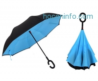ihocon: ReversibleInverted Umbrella With C-Shape Handle雙層反向傘