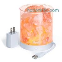 ihocon: Levoit Cora Himalayan Salt Lamp Natural Crystal Rock, 2 pounds喜馬拉雅山岩鹽燈