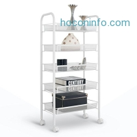ihocon: LANGRIA 5-Tier Wire Mesh Rolling Cart五層有輪金屬置物架