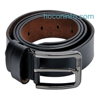 ihocon: Kingstar Men's Black Leather Belt男士皮帶