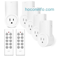 ihocon: Etekcity Wireless Remote Control Electrical Outlet Switch for Household Appliances, White (Learning Code, 5Rx-2Tx)