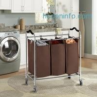 ihocon: LANGRIA Rolling Laundry Hamper Sorter 三格洗衣推車