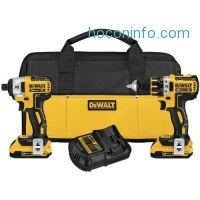 ihocon: DEWALT DCK281D2 20V Max XR Lithium Ion Brushless Compact Drill/Driver & Impact Driver Combo Kit