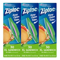 ihocon: Ziploc Sandwich Bags, X-Large, 90 Count