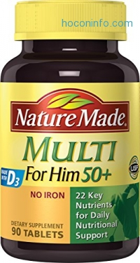 ihocon: Nature Made Multi for Him 50+ Multiple Vitamin and Mineral Supplement Tablets, 90-Count
