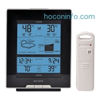 ihocon: AcuRite 01098R Weather Station with Temperature, Humidity, Barometric Pressure, Intelli-Time Clock