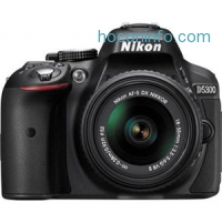 ihocon: D5300 24.1MP DX-Format Digital SLR Camera with AF-S DX NIKKOR 18-55mm f/3.5-5.6G VR II Lens, Black - Refurbished by Nikon U.S.A.