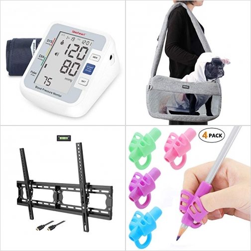 [Amazon折扣碼] 上臂血壓計, 寵物攜帶袋, 電視固定架, 握筆器 額外折扣!