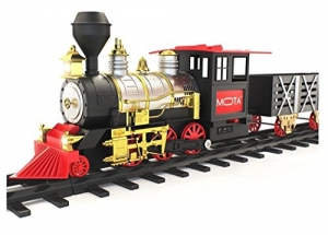 ihocon: MOTA Classic Holiday Christmas Train Set 聖誕火車, 會發出真實煙霧, 燈光, 聲音