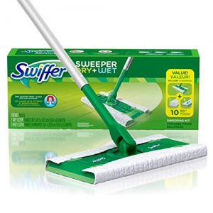 ihocon: Swiffer Sweeper Dry and Wet Floor Mopping and Cleaning Starter Kit 拖把 + 拖地紙(7片乾拖, 3片濕拖)