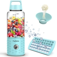 ihocon: PopBabies USB Rechargeable Personal Blender with Ice Tray Funnel and Recipe充電式隨身果汁機, 含製冰器及漏斗