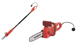 ihocon: Sun Joe SWJ807E-RED Electric Convertible Pole Chain Saw 鏈鋸(長/短2用)