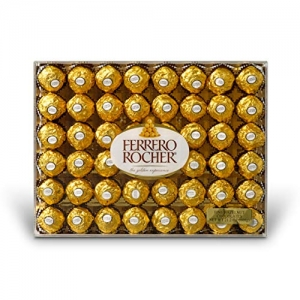 ihocon: Ferrero Rocher Fine Hazelnut Chocolates, Chocolate Gift Box for Valentines day candy, 48 Count 金莎巧克力