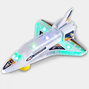 ihocon: DeVan Bump and Go Electric Space Shuttle Airplane Toy with Flashing 3D Lights and Sounds