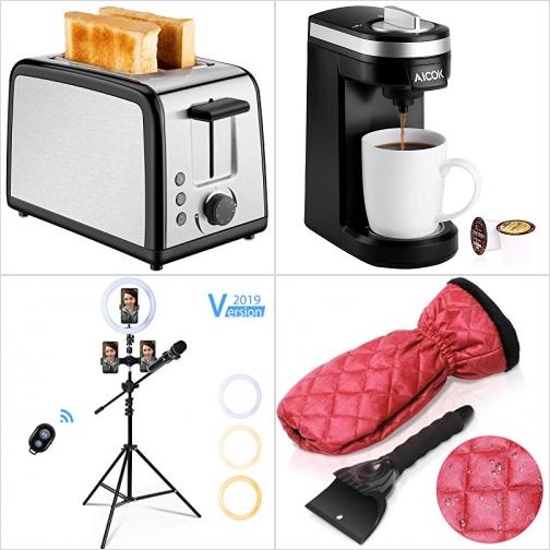 [Amazon折扣碼] 烤麵包機, 膠囊咖啡機, 影片自拍神器, 車窗刮雪器 額外折扣!