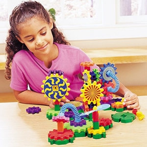 ihocon: Learning Resources Gears! Gears! Gears! Gizmos Building Set, 83 Pieces 齒輪玩具組