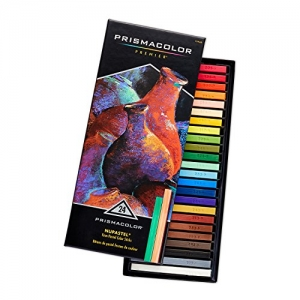 ihocon: Prismacolor 27049 Premier NuPastel Firm Pastel Color Sticks, 24-Count粉彩筆