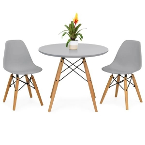ihocon: Kids Eames Style Dining Table Set w/ 2 Armless Chairs 3件式兒童桌椅