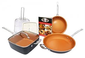 ihocon: Gotham Steel 1371 Tastic Bundle 7 Piece Cookware Set Titanium Ceramic Pan, Copper