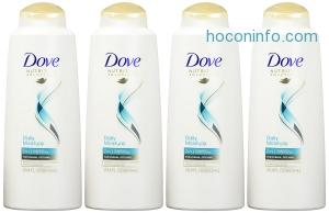 ihocon: Dove Nutritive Solutions 2 in 1 Shampoo and Conditioner, Daily Moisture 20.4 oz (Pack of 4)