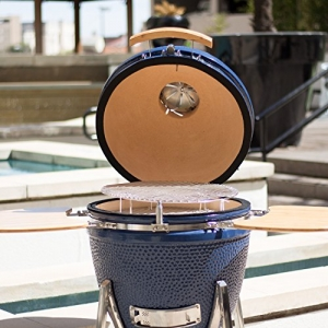 ihocon: Lonestar Chef SCS-K19 Ceramic Kamado Grill, 19 Inch, Blue陶磁烤肉爐