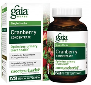 ihocon: Gaia Herbs Cranberry Concentrate, 60 Count - Optimizes Urinary Tract UTI Health, Vegan Cranberry Supplement Made from Organic Cranberry Juice有機蔓越莓補充劑