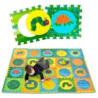 ihocon: Hungry Caterpillar Baby Mat, 20 Foam Puzzle Mat, Non-Toxic, 65'' x 52'' 飢餓的毛毛蟲無毒嬰兒拼接地墊