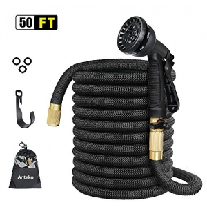 ihocon: Anteko 50ft Expandable Water Hose + 8 Functions Sprayer澆花水管+噴水頭