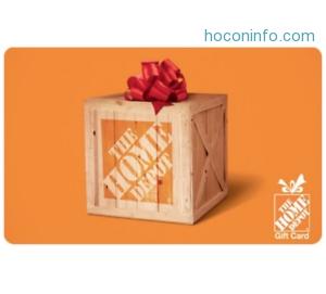 ihocon: The Home Depot eGift Card買$100送$10 -Emailed