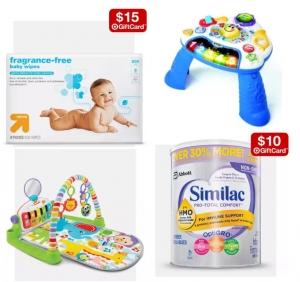 Target: 尿片, 濕巾, 嬰兒奶粉送禮卡 + 嬰兒玩具減價!