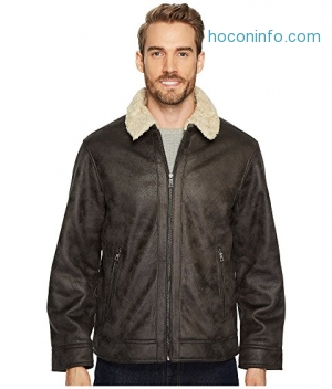 ihocon: Nautica男士外套 Faux Shearling Open Bottom Coat