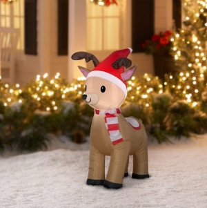 ihocon: Airblown Inflatable Reindeer, 3.5' 充氣糜鹿