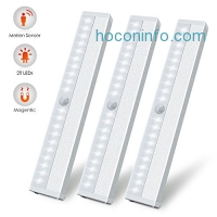 ihocon: LED Motion Sensor Closet Light, 3 Pack動作感應櫥櫃燈