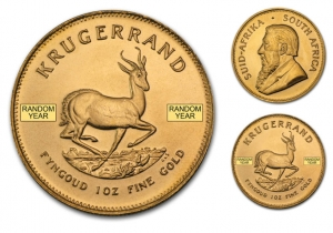 ihocon: South African Mint South Africa 1 oz Gold Krugerrand (Random Year)南非富格林金幣