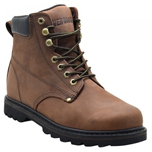 ihocon: EVER BOOTS Tank Men's Soft Toe Oil Full Grain Leather Insulated Work Boots男士橡膠鞋底工作靴 - 2色可選